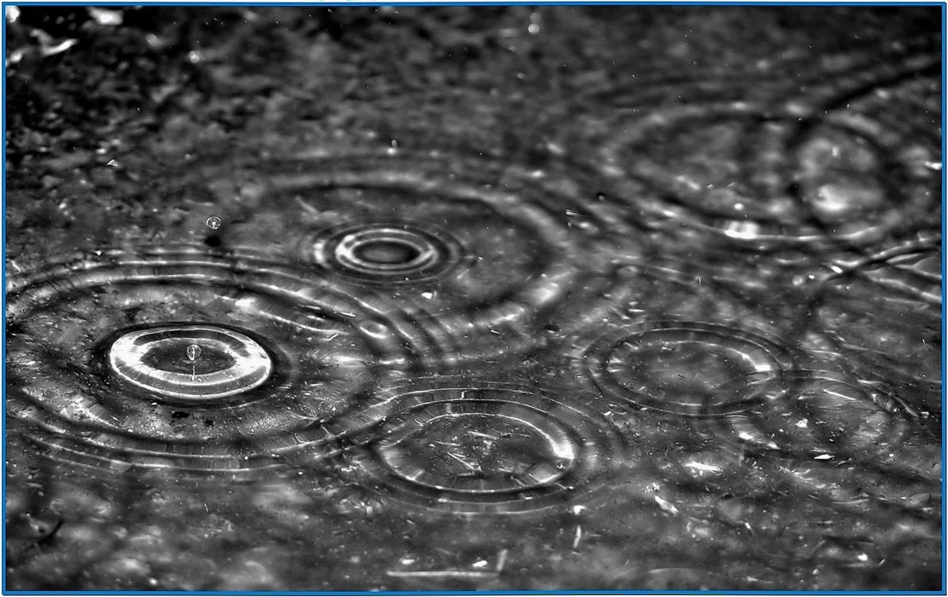 Desktop Rain Screensaver Windows 7
