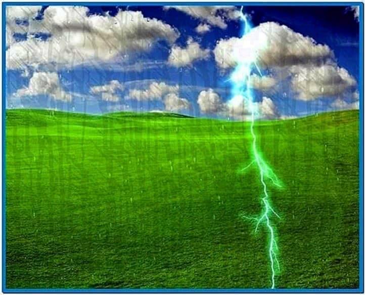 Desktop rain screensaver