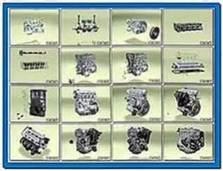 Diesel Engine Assembly Screensaver