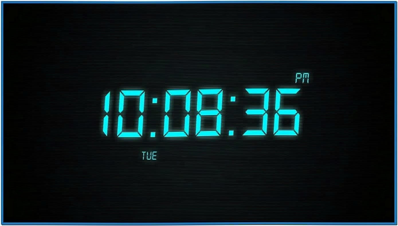 Digital Alarm Clock Screensaver Windows 7