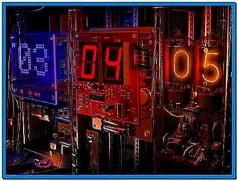 Digital clock 3d screensaver 1 0 0 1