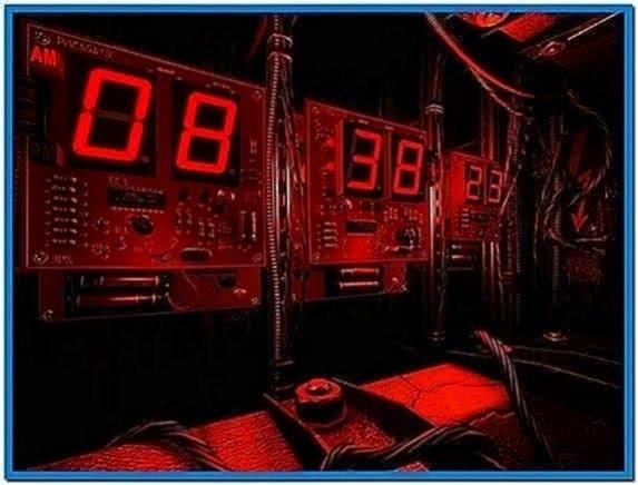 Digital Clock 3D Screensaver and Animated Wallpaper