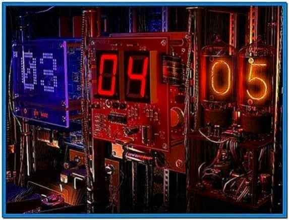 Digital Clock 3D Screensaver Animated Wallpaper