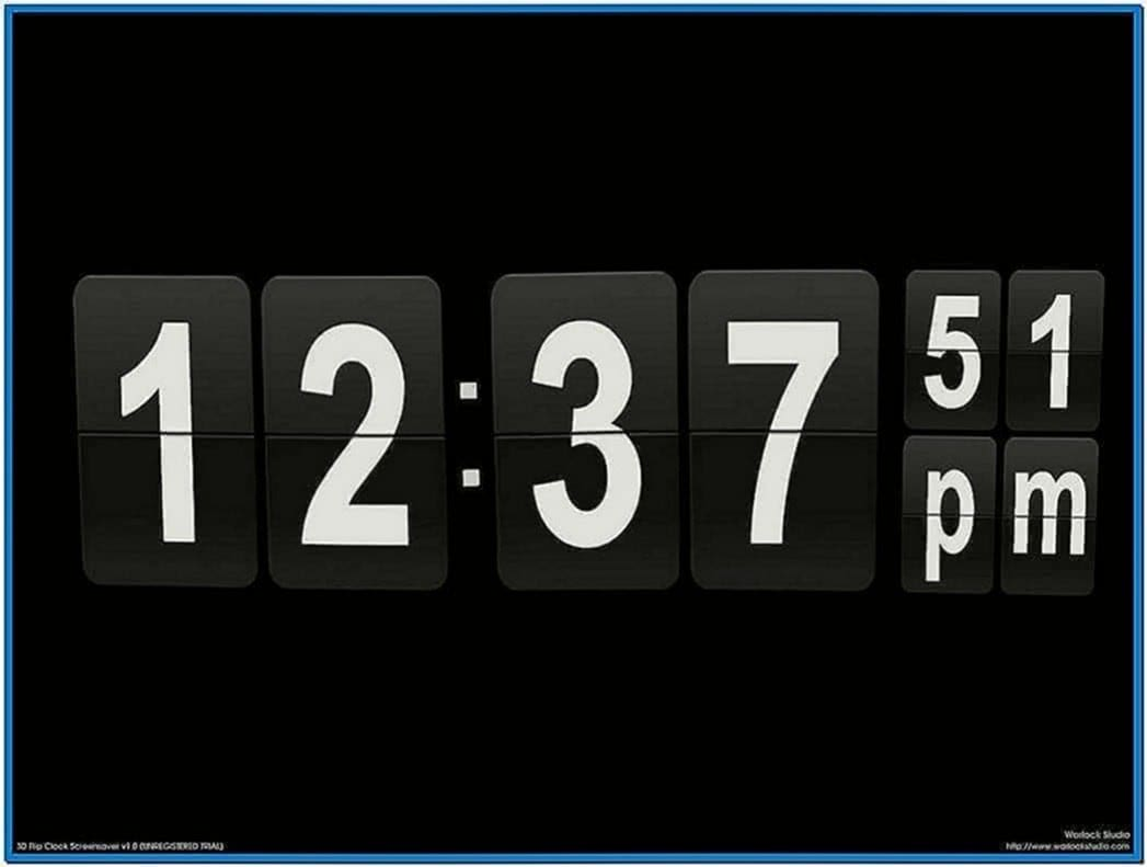Digital Clock and Calendar Screensaver