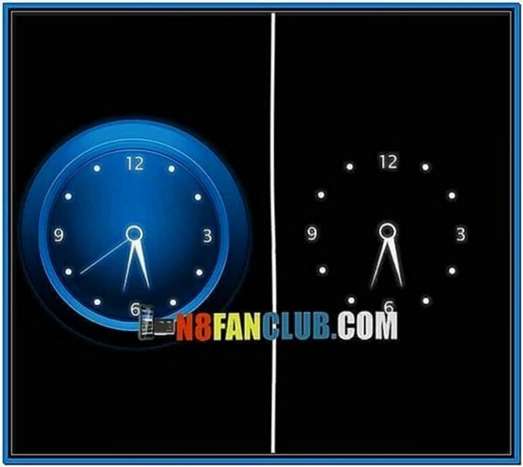 Digital Clock Calendar Screensaver