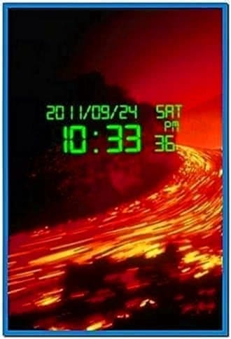 Digital Clock Screensaver for Android Phone