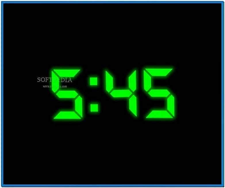Digital Clock Screensaver for Computer