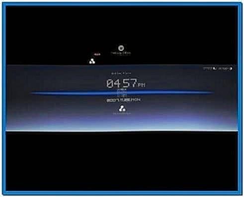 Digital Clock Screensaver for Computer