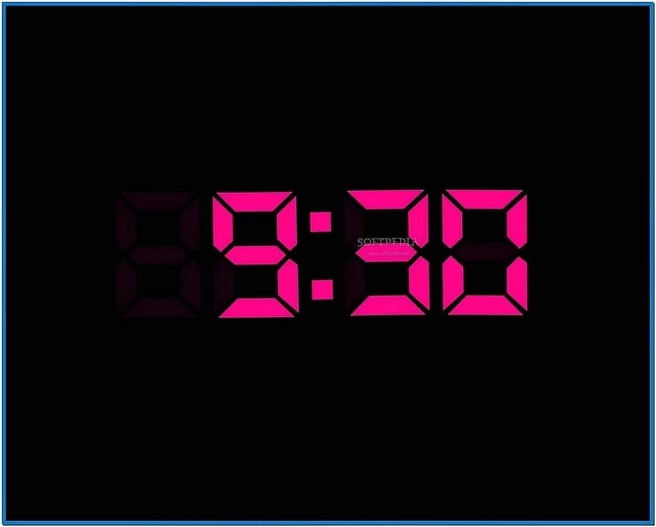 Digital clock screensaver for desktop
