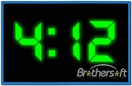 Digital Clock Screensaver for Mobile Nokia