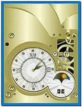 Digital Clock Screensaver for Mobile Phones