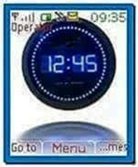 Digital Clock Screensaver for Nokia 3110c