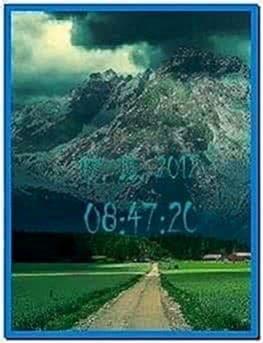 Digital Clock Screensaver for Nokia 6300