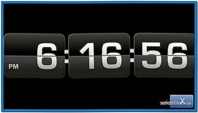 Digital Clock Screensaver for Nokia C5