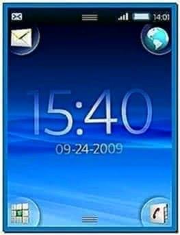 Digital Clock Screensaver for Nokia E5
