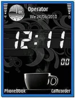 Digital Clock Screensaver for Nokia E5