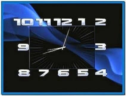 Digital Clock Screensaver for Nokia E63