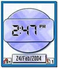 Digital Clock Screensaver for Nokia N70