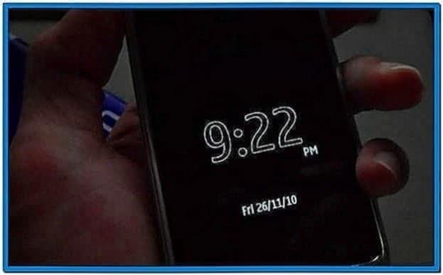 Digital Clock Screensaver for Nokia N8