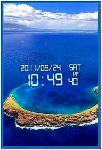 Digital clock screensaver for Samsung mobile