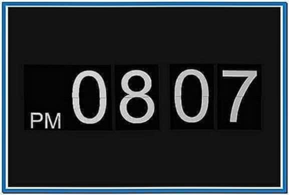 Digital Clock Screensaver Mountain Lion