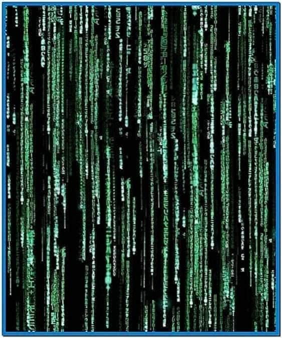 Digital rain screensaver Mac
