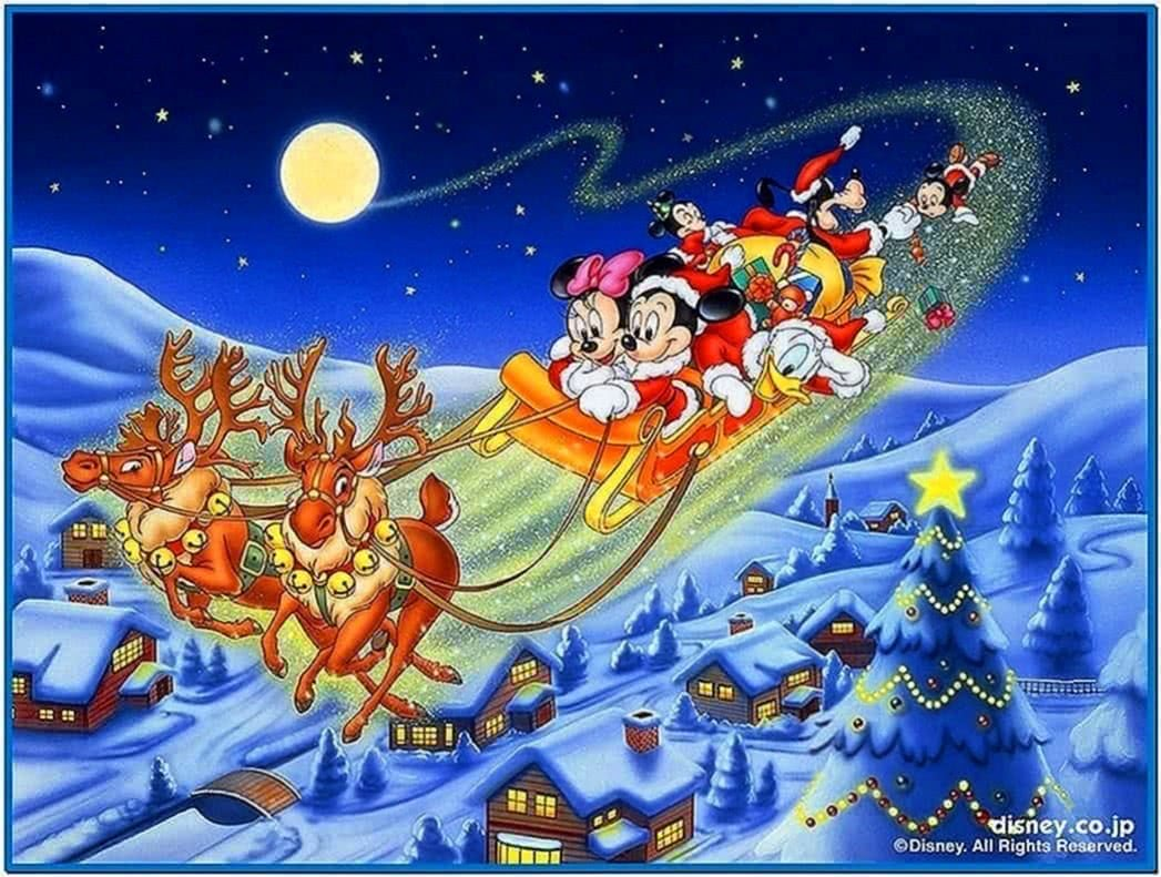 Disney Christmas Animated Screensavers