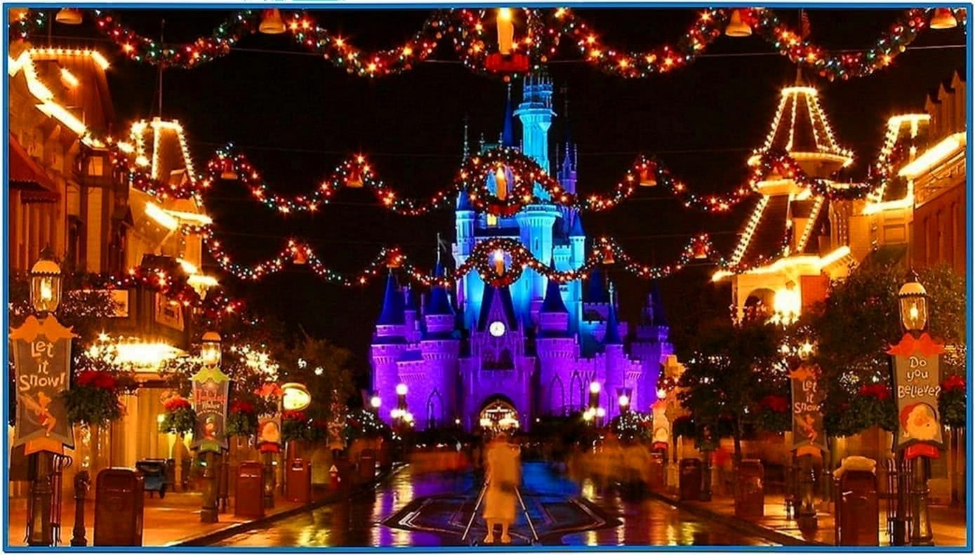 Disney World Christmas Screensavers