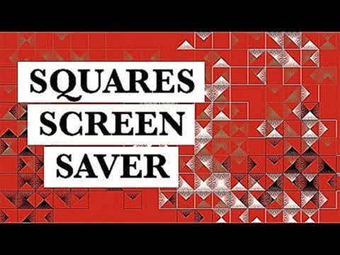 Squares TV Screensaver, Relaxing Meditation, Abstract Art