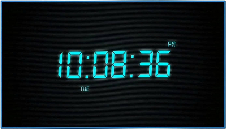 Drops Clock Screensaver 2020