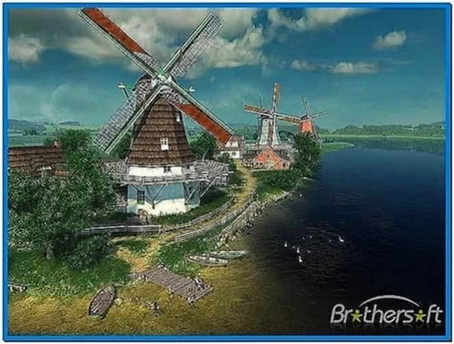 Dutch Windmills 3D Screensaver 1.0
