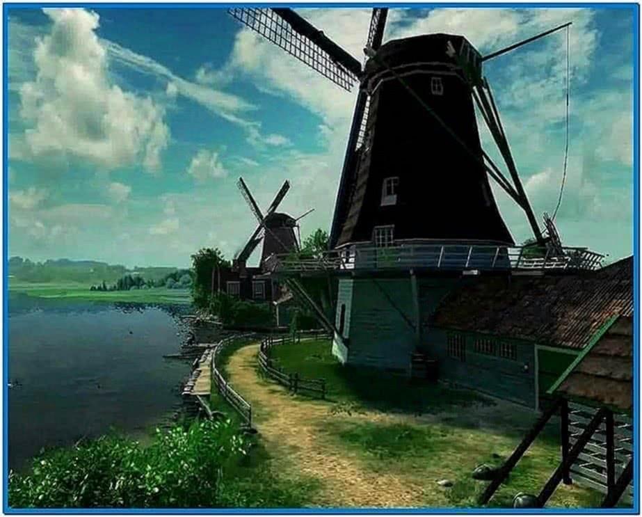 Dutch Windmills 3D Screensaver Uk