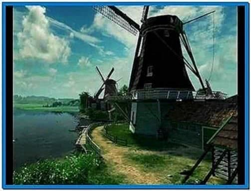 Dutch Windmills 3D Screensaver Uk