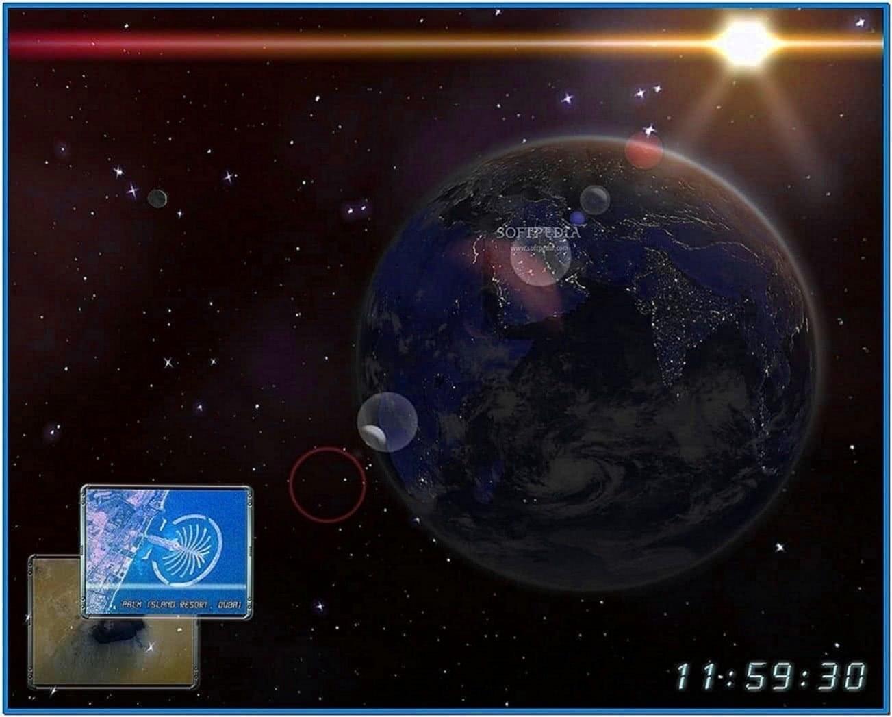 Earth 3D Space Survey Screensaver