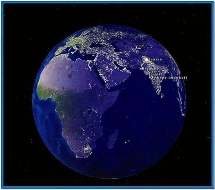 Earth Cities 3D Screensaver Mac