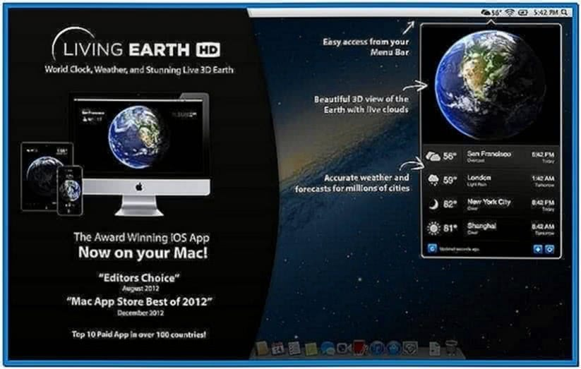 Earth Clock Screensaver Softonic
