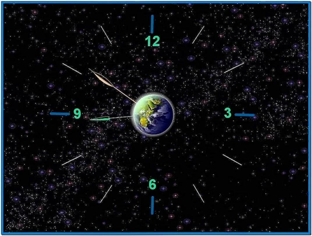 Earth Clock Screensaver