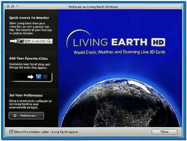 Earth Screensaver Mac OS X