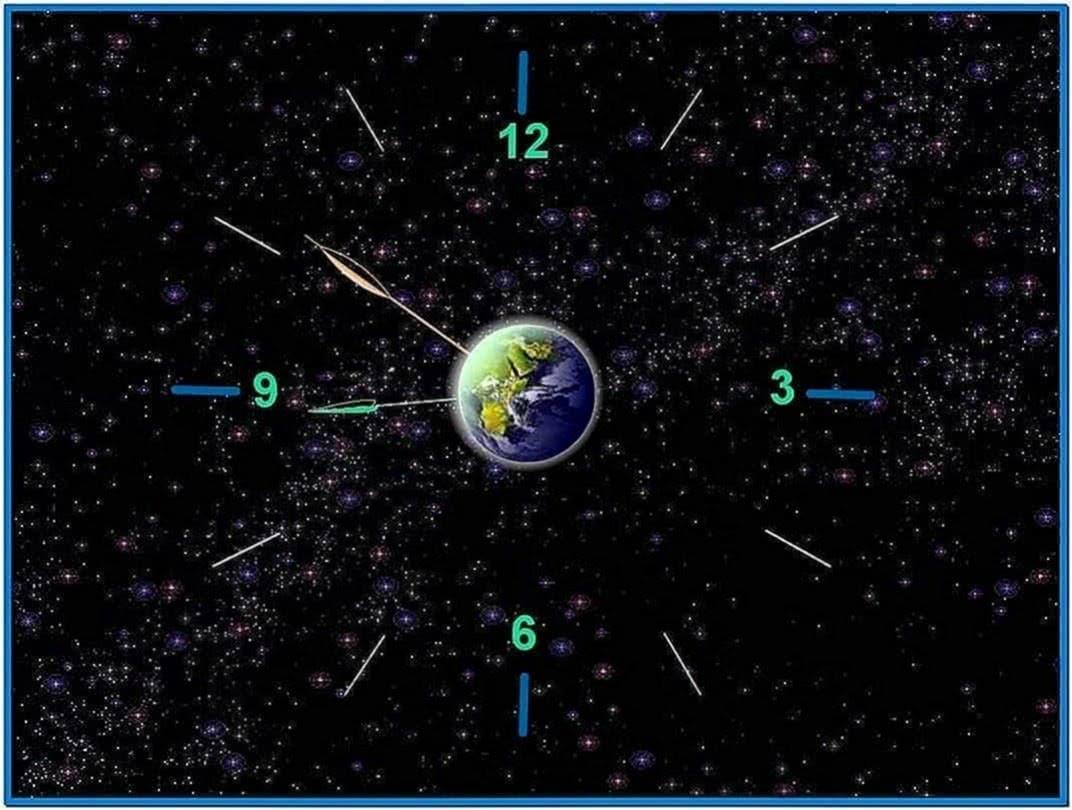 Earth Screensaver Time