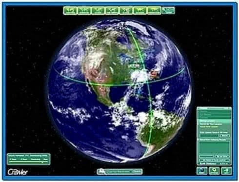 Earth Screensaver Watch Realistic Animated