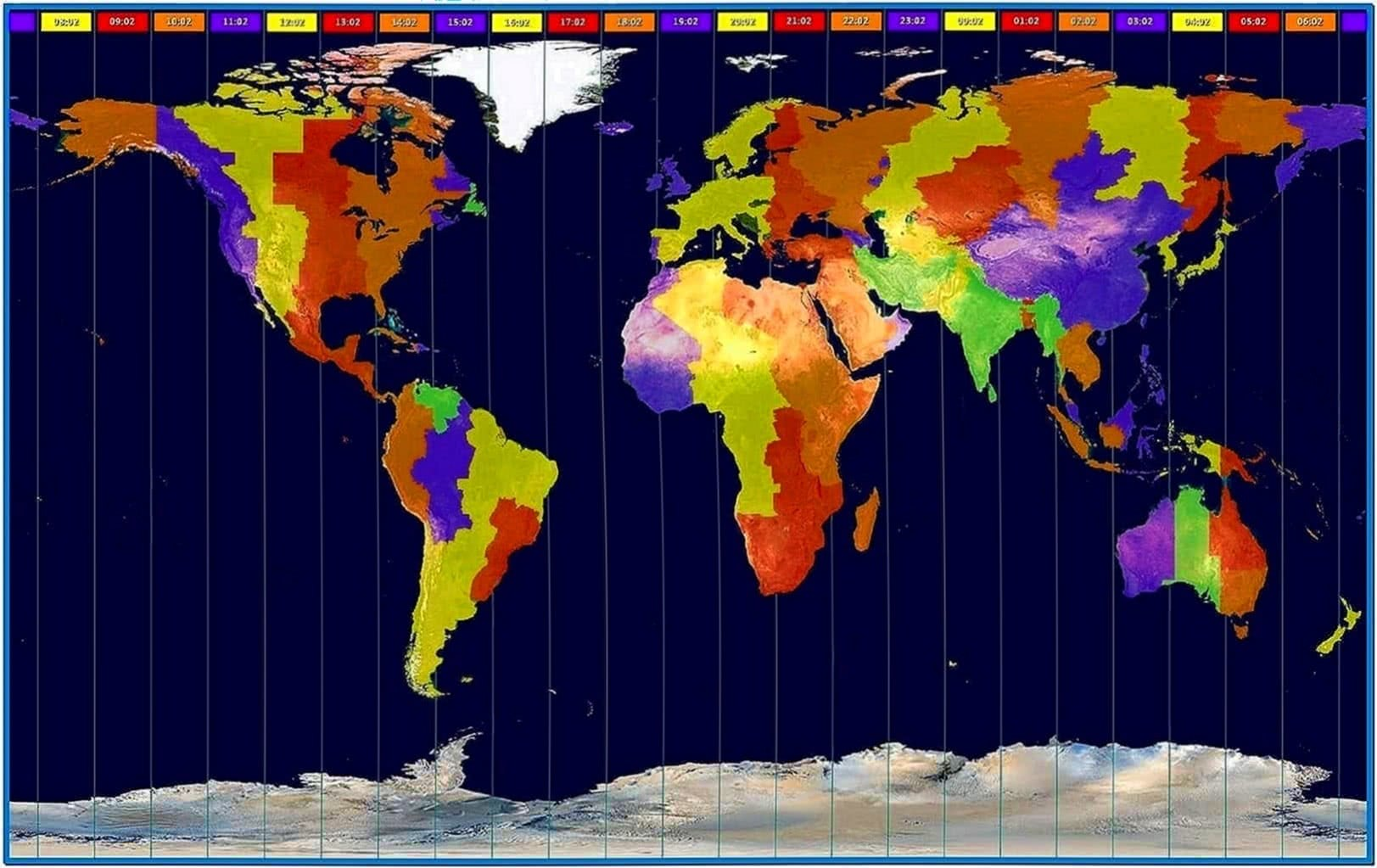 Earth Time Zone Screensaver Download Free