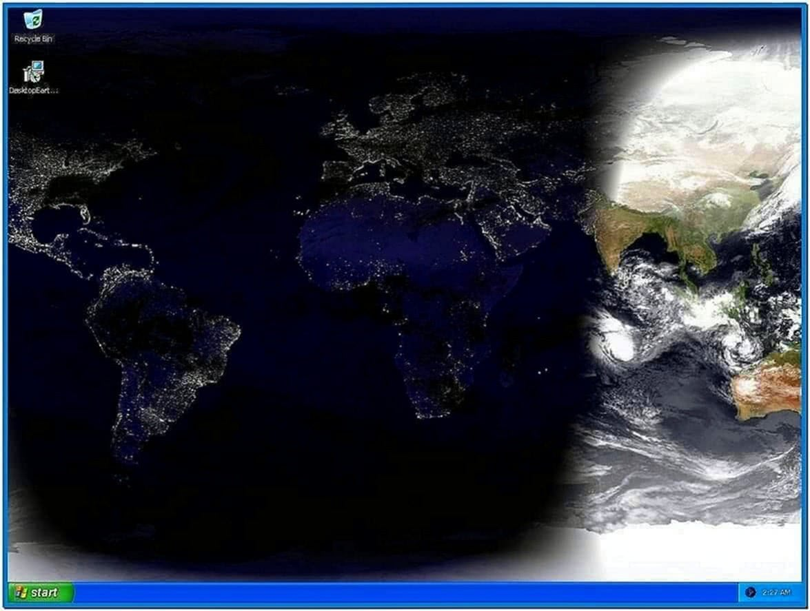 Earth Time Zone Screensaver
