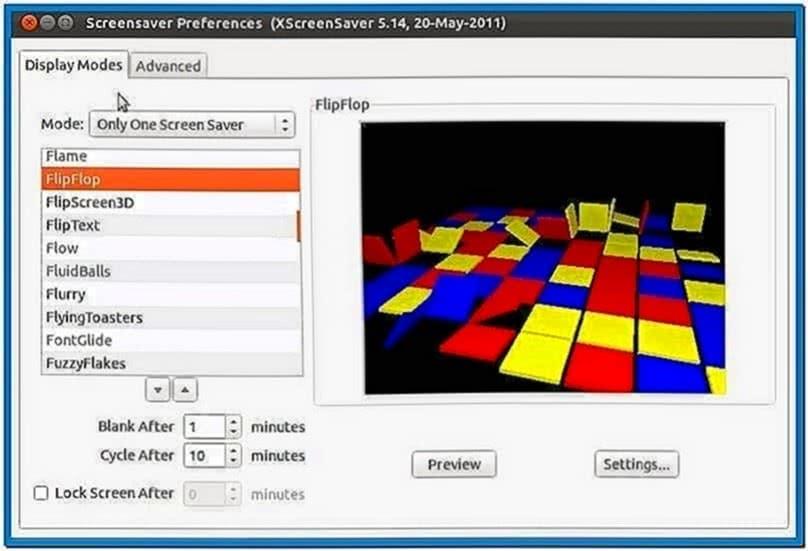 Enable Screensaver Ubuntu 12.04