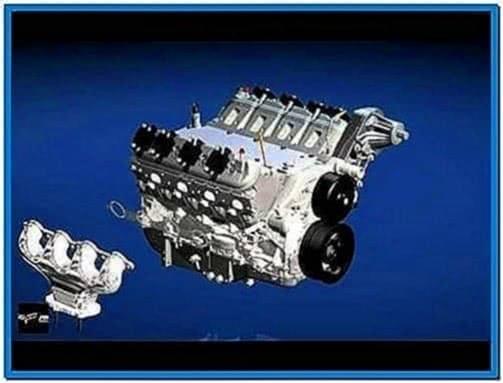 Engine assembly screensaver animation