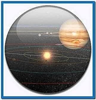 Exaggerated Solar System Screensaver Mac