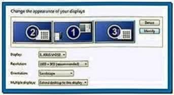 Extended Desktop Screensaver Windows 7