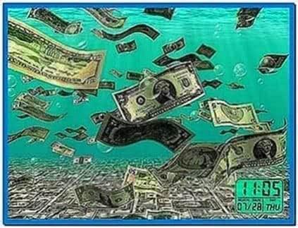 Falling Money Screensaver Mac