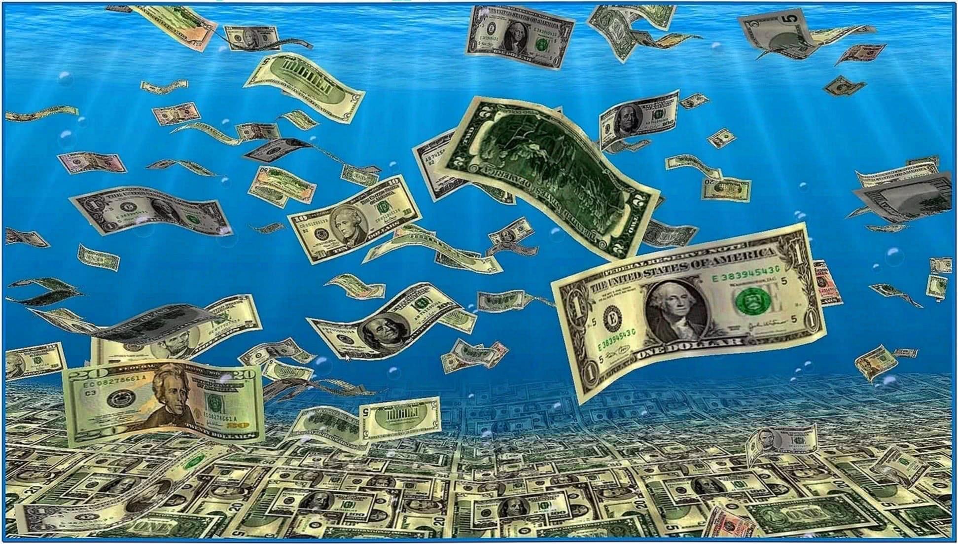 Falling Money Screensaver