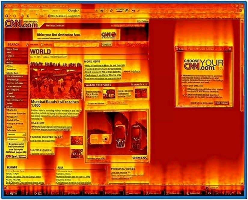 Fantastic fire screensaver