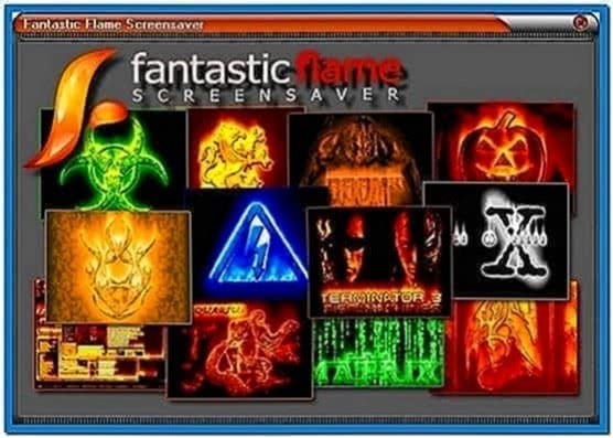 Fantastic flame fire screensaver